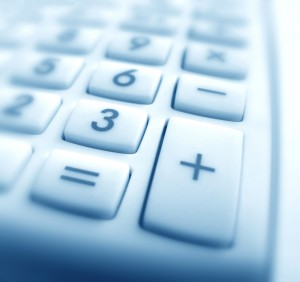 Close up of Calculator keypad